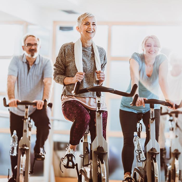 Gruppenkurs Indoorcycling für ein starkes herz