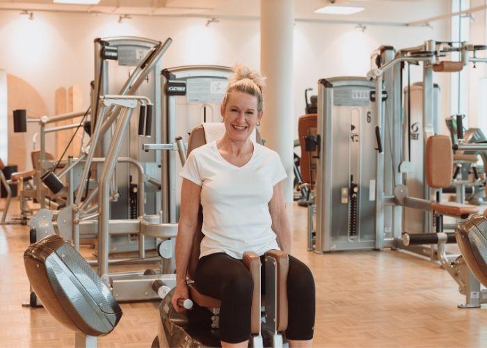 Mitglied im Rückgrat Woman Freiburg bei ihrem Wohlfühlprogramm