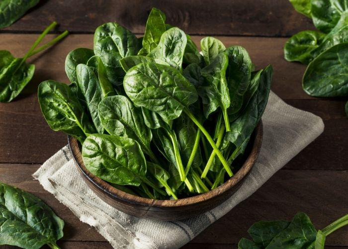 Frischer Spinat für Spinatlasagne