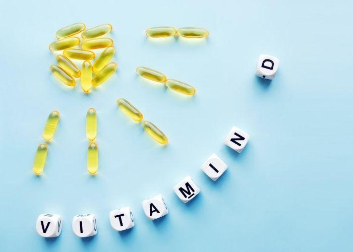 Nahrungsergänzungsmittel Vitamin D für gesundes Immunsystem