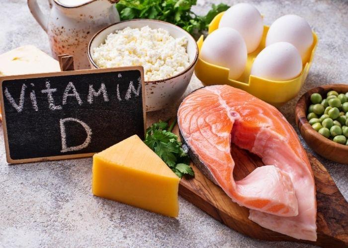 Vitamin D reiche Lebensmittel für gesundes Immunsystem