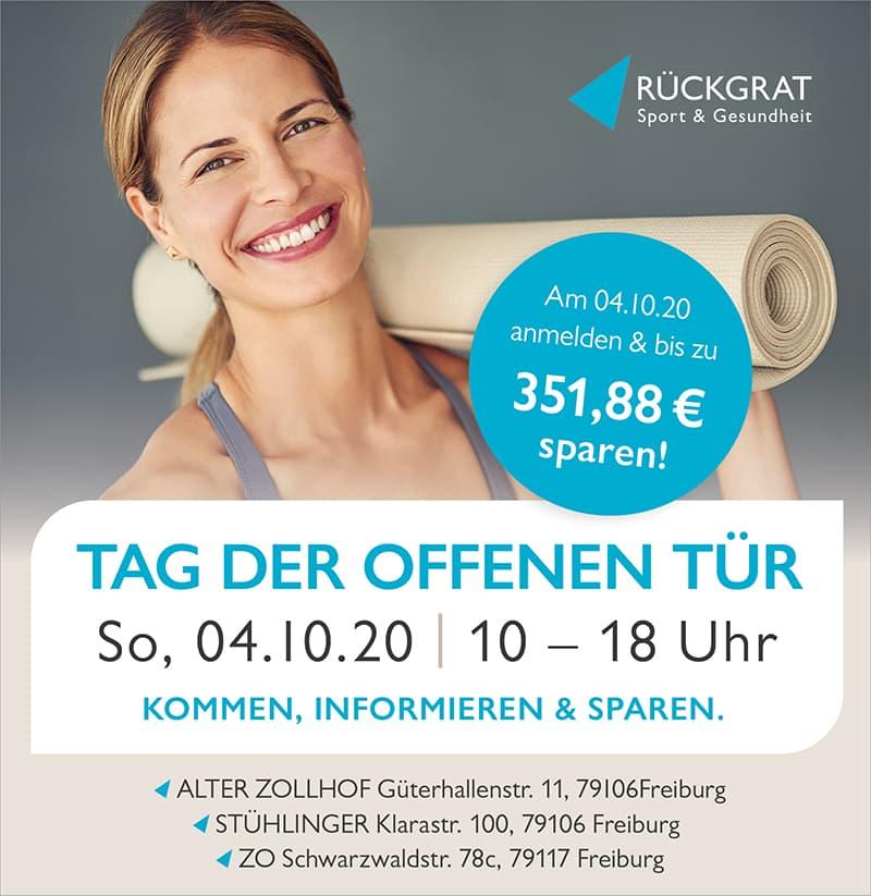 Tag der offenen Tür in den Rückgrat Centern Freiburg